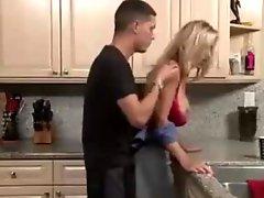 Milf in Kitchen